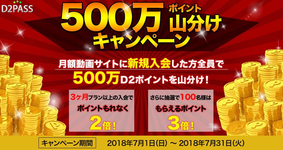 D2pass 500万ポイント山分けキャンペーン